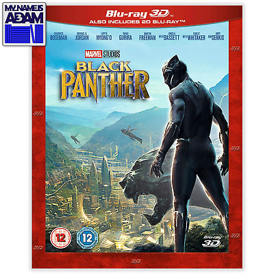 [MARVEL] BLACK PANTHER Blu-ray 3D + 2D (REGION-FREE)