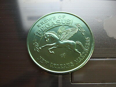 pegasus Mardi Gras Doubloon flying horse rare new orleans greek mythology