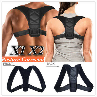 Durable Therapy Posture Corrector Clavicle Back Support Brace Belt Men Women lot