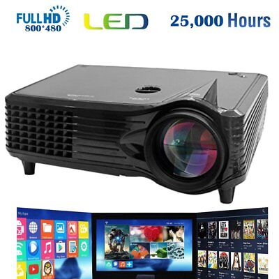 Portable High definition LCD LED Projector Home Video Movie Business Meeting PR