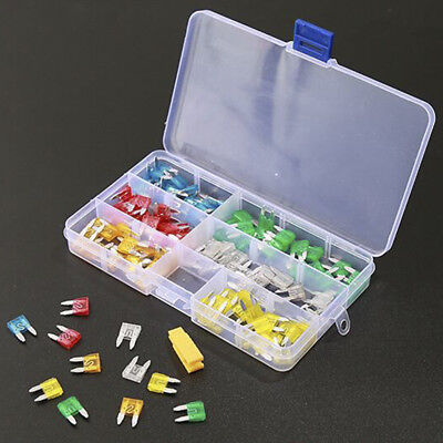 120pcs Mini Blade Fuse Assortment Set Car Auto SUV Motorcycle FUSES Kit APM ATM