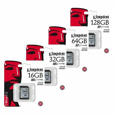 Kingston 16/32/64/128GB SD SDHC SDXC Tarjetas de memoria Class 10 UHS-I