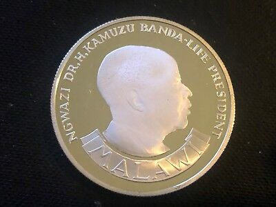 MALAWI 10 Kwacha 1974 Silver Proof 10th Anniversary of Independence Low Mintage