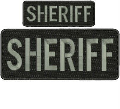 """Sheriff"" embroidery patch  4x10 and 2x6 inches hook"