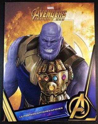 "Avengers: Infinity War Marvel THANOS Book:12 posters 8.5X11"" RARE LIMITED PRINTS"