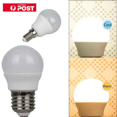 5W E14 E27 LED Light Bulb Golf Ball Non-Dimmable Super Bright ES SES Globe CE AU