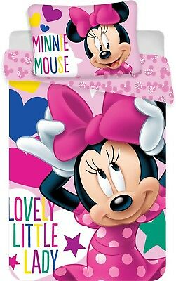 Disney Minnie Maus Lovely Little Lady Kinder Bettwäscheset 100x135 + 40x60 cm