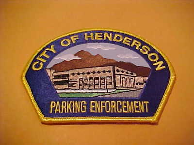 Henderson Nevada Parking Enforcement  Police Patch Shoulder Size Unused