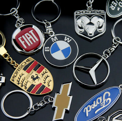 99 style Quality Metal Auto Car Emblems KEY chain ring fob Wholesale Bargain