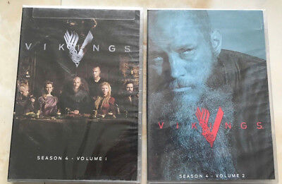 Vikings : The Complete Season 4 Volume 1 & 2 (DVD 2017, 6-Disc Box Set)
