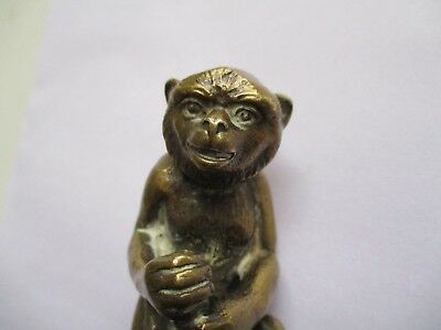 Vintage Antique Brass Clock Stand C 1880-1901, Monkey- Collectable , Functional
