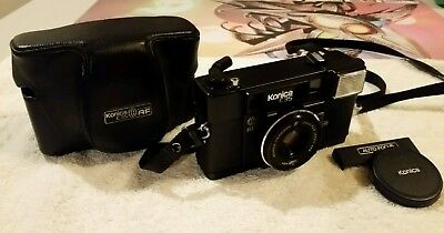 Konica C35 AF2 38mm F2.8 Film Camera with Strap Case and Lens Cover