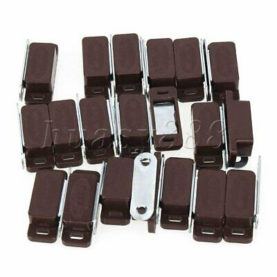 20PCS Brown Magnetic Catch Sets for Cabinet Cupboard Glass Doors