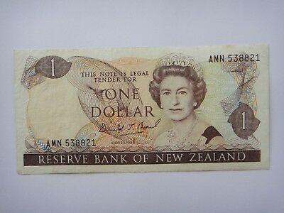 1989-1992 - New Zealand  $1 Dollar  Old Paper Banknote VF++ Condition