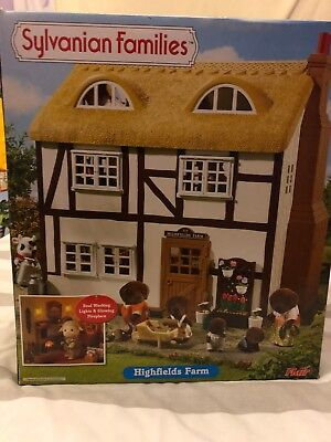 Sylvanian Families Highfields Farm House - Light Up Fireplace & Lights - Box