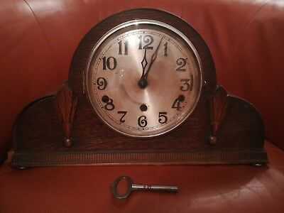NAPOLEON HAT SHAPED Wooden MANTEL CLOCK WESTMINSTER CHIME SILENT Circa 1930s