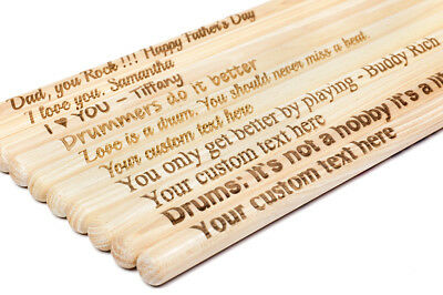 2 Vic Firth™ 5A Professional Drum Sticks –PERSONALIZED-, customized gift Drummer
