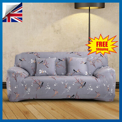 1 2 3 Seater Floral Elastic Sofa Couch Lounge Covers Stretch Slipcover Protector