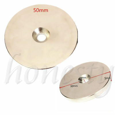 2PCS  N52 Super Strong Round Magnets 30mm/50mm x 5mm  Disc Rare Earth Neodymium