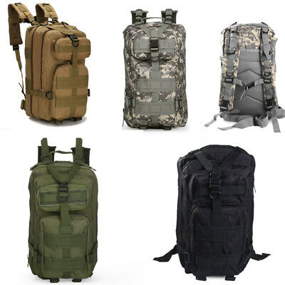 30L Outdoor Military Army Tactical Bag Camping Hiking Trekking Sport 3P Backpack