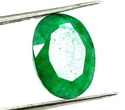 GGL Certified 4.85 Ct Natural Oval Cut Green Emerald Gemstone Hurry Now