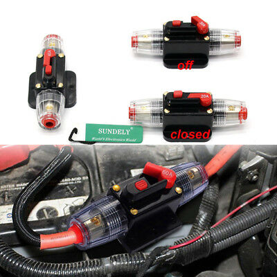 20A-150A Amp Car Audio Inline Circuit Breaker Fuse Holder for System Protection