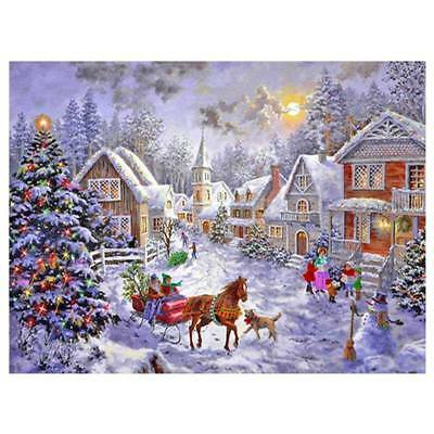 5D DIY Diamond Painting Full Square Drill Christmas Hut Embroidery for Wall D G8