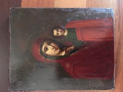 ANTIQUE RUSSIAN CHRISTIAN ICON KAZAN MOTHER OF GOD 19th century