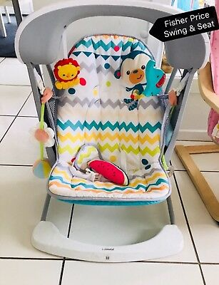 Fisher-Price Colourful Carnival Take-along Swing and Seat
