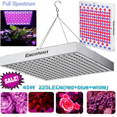 45W 225 SMD LED Grow Plant Light Full Spectrum Hydroponic Indoor Growth Lighting