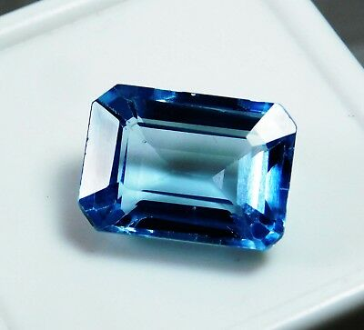 17.15 Cts Natural Genuine Aquamarine Emerald Cut Loose gemstone. 1827