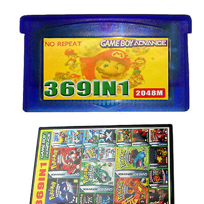 369 in 1 Game Cartridge Multicart for GBA NDS SP GBM NDS NDSL