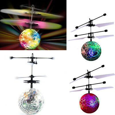 Magic Electric Flying Ball Helicopter Infrared Sensor Kids LED Light Toy Drone