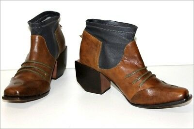 MARITHE FRANCOIS GIRBAUD Bottines Boots Tout Cuir Bicolore T