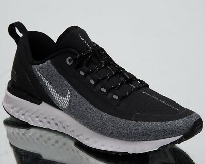 newest 70d68 264b7 Nike Odyssey React Shield Men's Running Shoes Black White Sneakers  AA1634-002