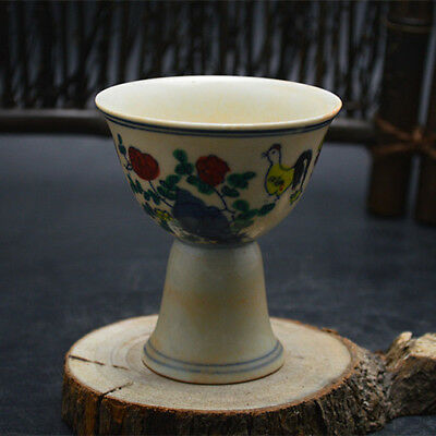 Chinese ancient antique hand make  Stem cup