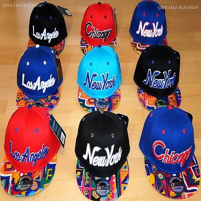 C G NEW YORK Bling NY righe cappello Piatto SNAPBACK CON VISIERA ... 1135857e05cc