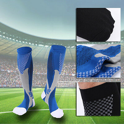 2 Paire Unisexe Chaussette Compression Football Sport Course Stretch Respirable