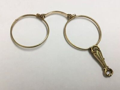 Antique French Gold Folding Lorgnette - 19th Century - Spectacles Glasses