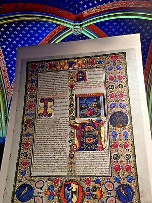 Bible of Borso D'Este  Manuscript Accented in Gold  NEW