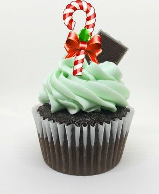 Kitchen, Dining & Bar 24winter Holiday Peppermint Canes Cupcake Picks Candy Cane Picks Baking Accs. & Cake Decorating