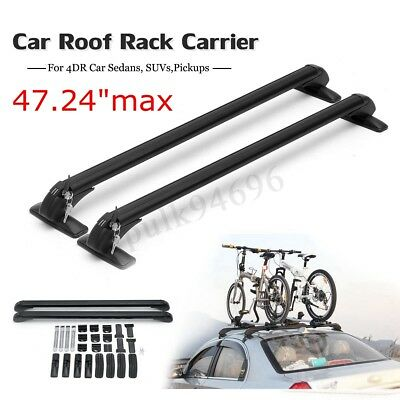 """47"""" Universal Car Top Luggage Roof Rack Cross Bar Carrier Adjustable For 4DR SUV"""