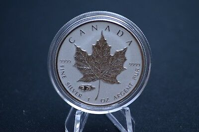 1oz 2016 .9999 Canadian Maple Reverse Proof Mark V Tank Privy | In air-tite