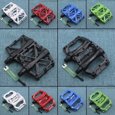 2Pcs Cycling Bicycle Bearing Alloy Flat-Platform Pedals Mountain MTB / BMX Bike