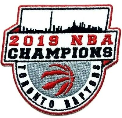 2019 NBA Basketball Raptors Toronto Finals Champions Jersey Patch Iron On Sew