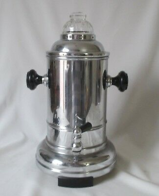 Rare Vintage 4 Cup Rowenta Chrome Coffee Urn ~Small Unique Art Deco Coffee  Maker