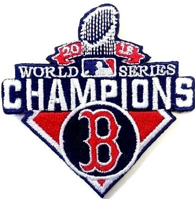 MLB Red Sox Boston Patch World Series Champions 2018 Iron on Patches Embroidered
