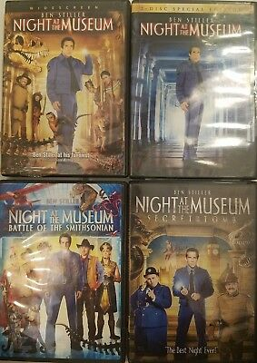 Night at The Museum / Battle of the Smithsonian / Secret of the Tomb DVD -CHOOSE
