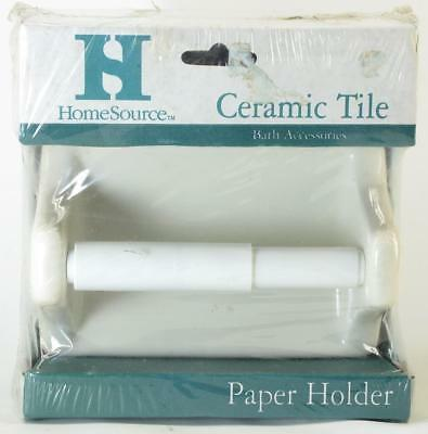 Home Source White Ceramic Tile Toilet Paper Holder For Tile Wall