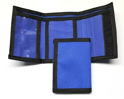 Nylon Trifold Credit Card Wallet- Royal Blue